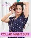 Full Length Female Ladies Collar Nightsuit, Free Size