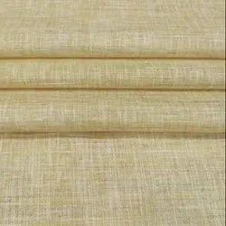 Beige Plain Handloom Khadi Fabric
