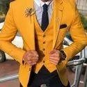 Cotton Men Slim Fit Wedding Suits