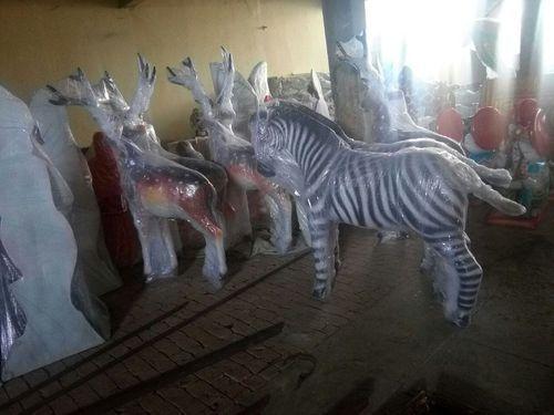 Fiber Zebra Statue Pashu Moortiyan ज नवर क