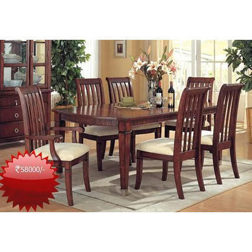 6 Seater Stylish Brown Wooden Dining Table Set Rs 58000 Set Id