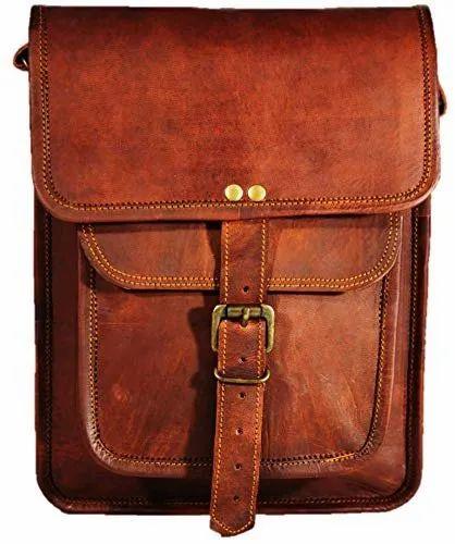 13009f4b4e60 Brown Leather Laptop Messenger Bag