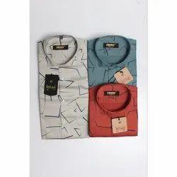 Printed Linen Designer Shirt