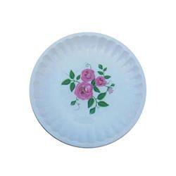 Flower Print Plastic Plate