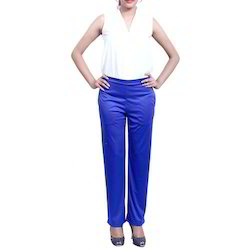 Palazzo Pants Blue Ladies Pant