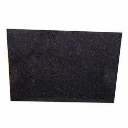 Semi Polished Steel Grey Granite Slab, Rectangular, Thickness: 7-9 Mm