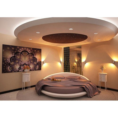 White Color Coated PVC Drawing Room False Ceiling ...