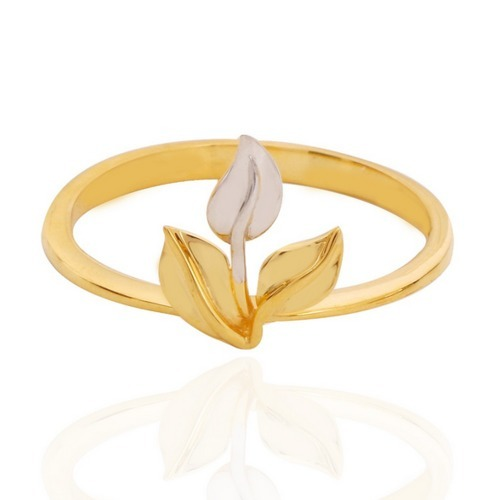 Trio Leaf Gold Ring at Rs 6653 unit