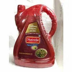 5 Ltr Nutrela Kachi Ghani Mustard Oil