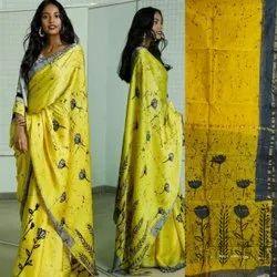 Hand Block Silk Saree