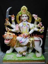 Marble Sherawali Mata Moorti