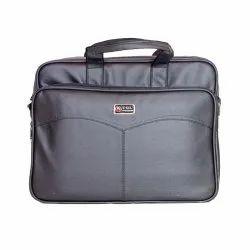 PU Leather Portfolio Office Bag, Size/Dimension: 18 inch