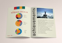 Art Paper Single Center Fold Brochure, Size: A4, Flat Surface