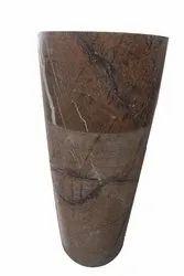 Marble Brown Bidasar Pedestal Basin, For Bathroom Fittings