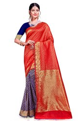 New Banarasi Silk Saree with Blouse