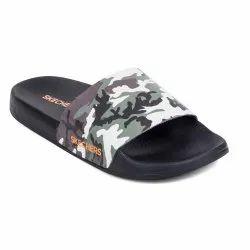 Daily Wear Green/Black Skechers Slides for Men