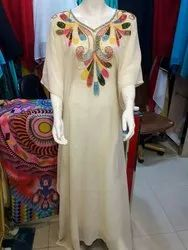 Cotton Casual Wear Ladies Western Long Gown