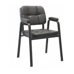 SPS-280 Black Leather Visitor Chair
