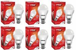 Round White And Warm White Eveready LED Bulps, Base Type: B22