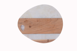 Marble & Wood Paddle Serving Board