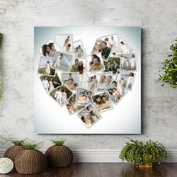 Personalized Valentine Heart Collage Photo Frame
