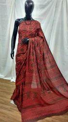 Traditional Hand Block Printed Cotton Saree