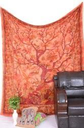 Red Tree Of Life Wall Tapestry