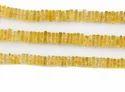 Citrine Heishi Cut Square Gemstone Beads