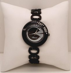 Black Belt Ladies Wrist Watch