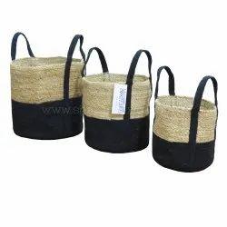 Wholesale Laundry Basket Custom Jute Storage Basket
