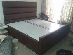 Oak Wood Brown Bed