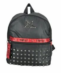 Polyester Shoulder Bag Black College Bag
