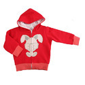 Magic Train Baby Red Print Hooded Jacket