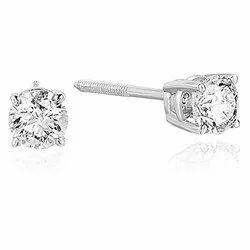 Real Diamond Earring, Packaging Type: Box, for Regular Wear