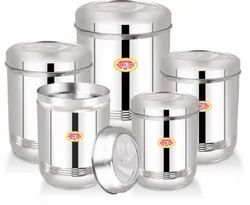 Silver Food Storage Container Nirlon Stainless Steel Ubbha Dabba (5 Pcs), For Store Food, Packaging Type: Box