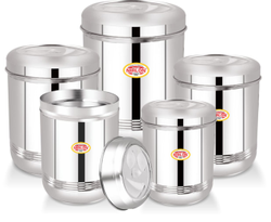 Nirlon Stainless Steel Ubbha Dabba (5 Pcs)