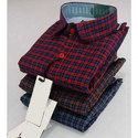 Mens Button Down Check Shirt
