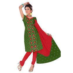 Designer Bandhani Mehandi Suit