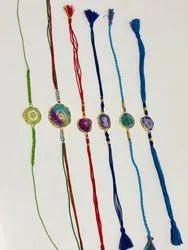 Agate With Silk Thread Rakhi