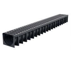 Black HDPE Channel Drain for Basement