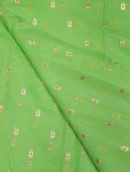 Jacquard Chanderi Silk Fabric