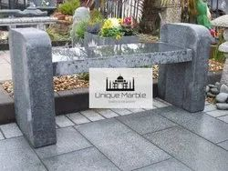 Black Granite Bench Without Back