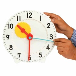 Geared Teacher Clock - Teaching Aid