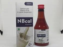 Calcium with Vitamin D3 and L-Lysine Suspension