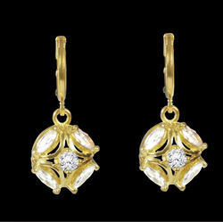 Charming Amulet Brass Drop Earring