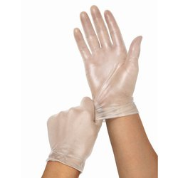 Non-Sterile White Disposable Vinyl Gloves, For Food Industry
