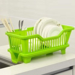 Multipurpose Washer Set Dish Rack Drainer with Tray for Kitchen