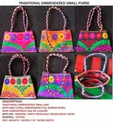 Embroidered Rajasthani Bags - Casual Wear Ladies Shoulder Bag