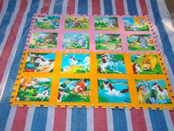 Multicolor Rectangular Mickey Mouse Flooring Mat