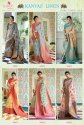 Rajtex Kanvas Linen Pure Linen Silk Saree Catalog Collection